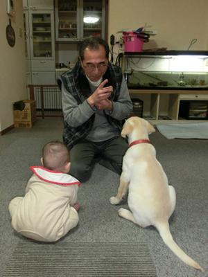 タイト君と赤ちゃん写真